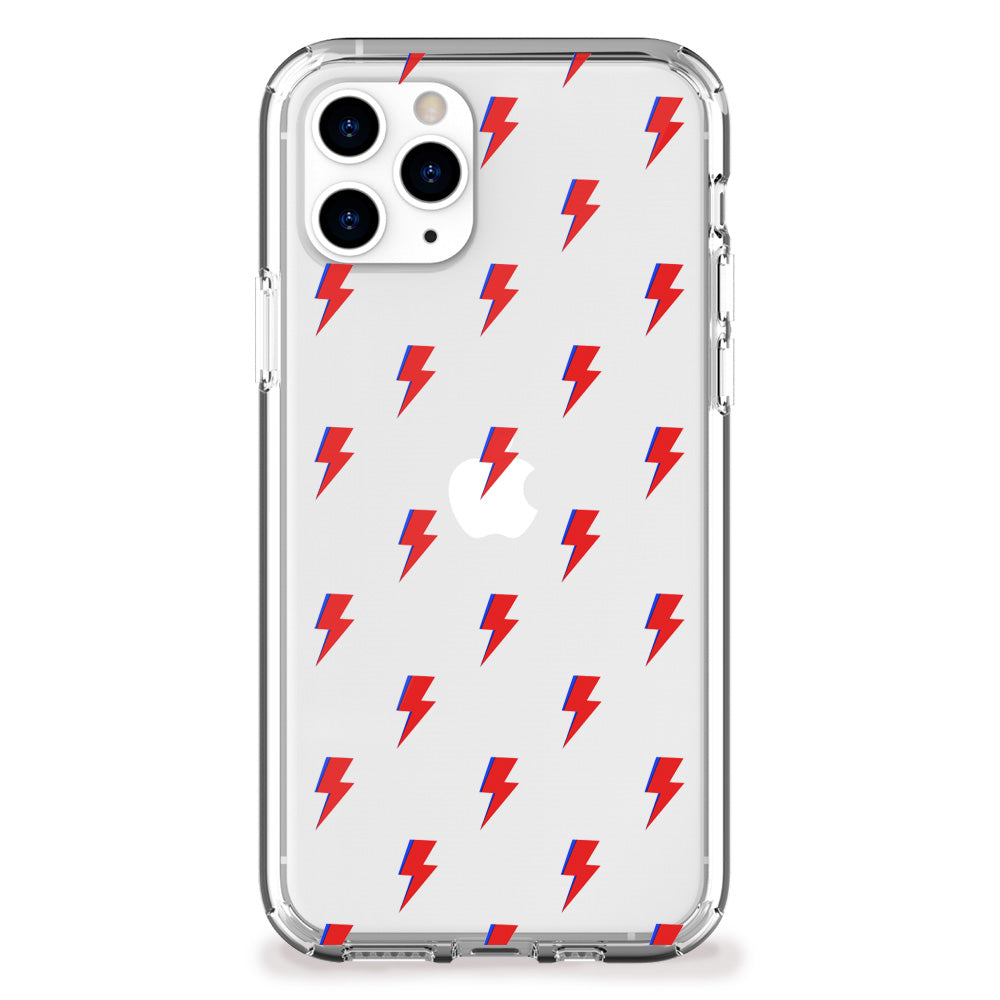 Lightning Bolt Pattern (Red) iPhone Case
