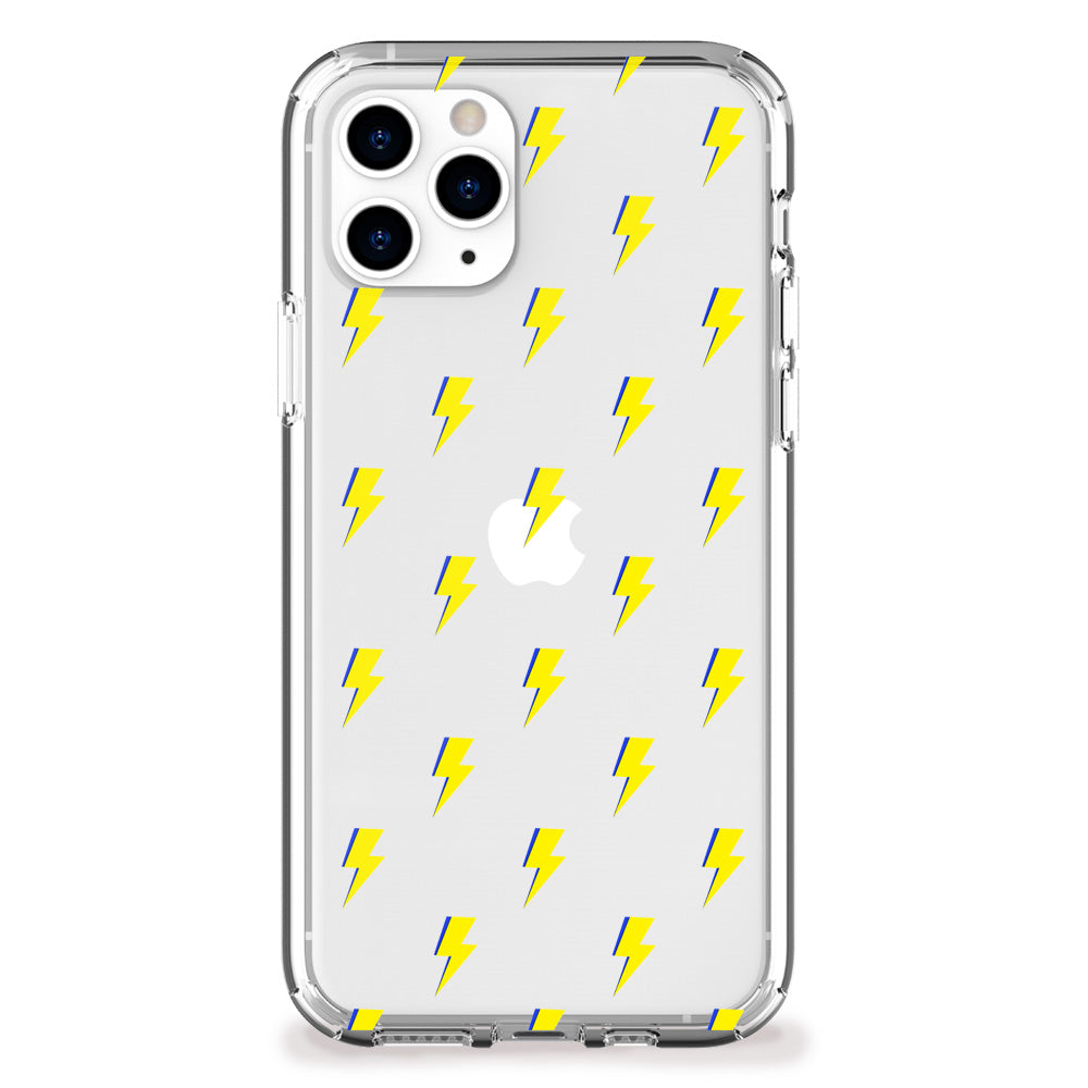 Lightning Bolt Pattern (Yellow) iPhone Case