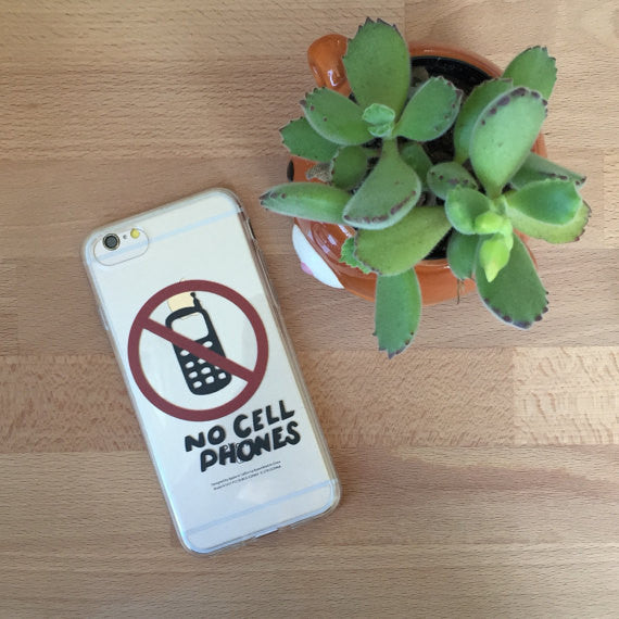 iPhone No Cell Phones Case