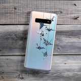 blue and whte origami cranes samsung phone case