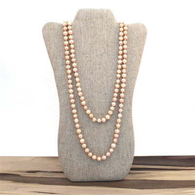 Endless Pearl Necklace - Peach