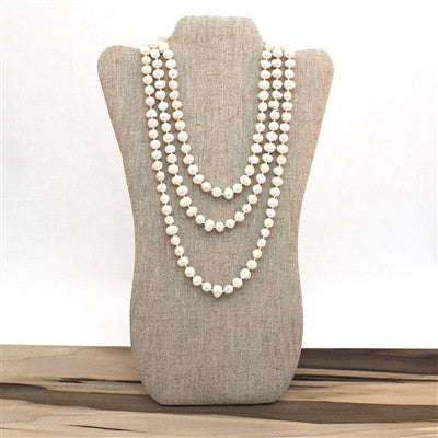 Endless Pearl Necklace - White