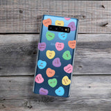 salty candy hearts phone case