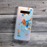 rainbow paint splatter castle samsung phone case