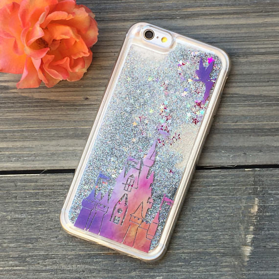 Magic Kingdom Sunset Glitter iPhone Case
