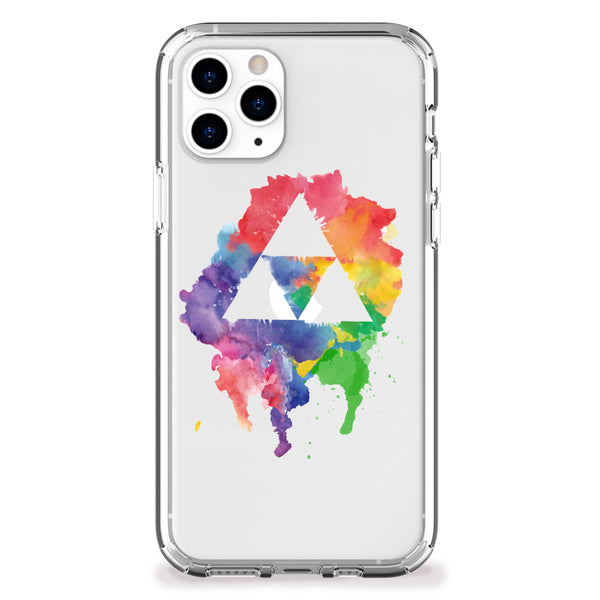 Triangle Artifacts Rainbow iPhone Case