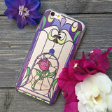 Enchanted Rose Stained Glass Design iPhone Case