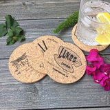 Gilmore Girls Themed Cork Coaster Set of 4