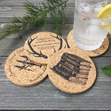 beauty and the beast fairy tale cork coaster set of four