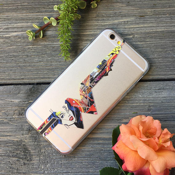 iPhone Wonder Woman Comic Pattern Case