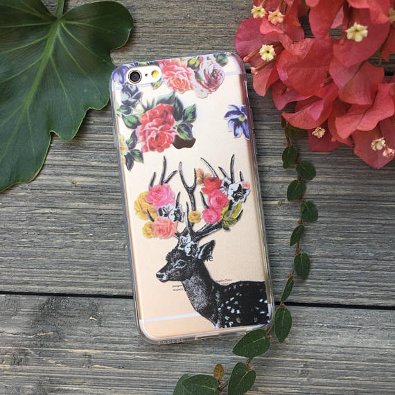 iPhone Stag and Roses Case