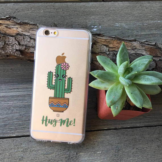 Hug Me Cactus iPhone Case