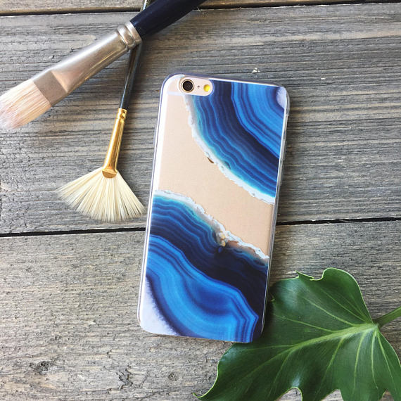 Blue Geode iPhone Case