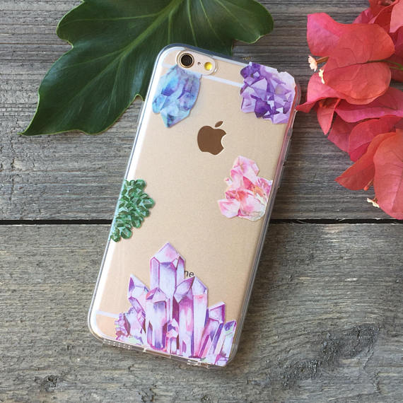 Crystals and Gemstones iPhone Case