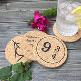 Wizarding Themed Cork Coaster Set of 4