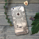 Circuit Board iPhone Case