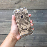 circuit board pattern phone case