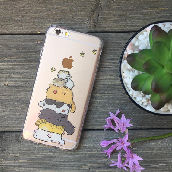 iPhone Stack o' Cats Case