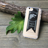 winter is coming banner phone case