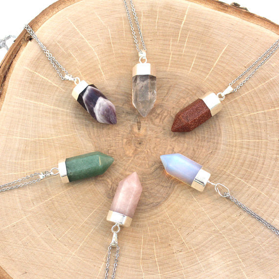 Stone Chakra Pendant with Chain