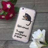 iPhone Stick Around Cat Case