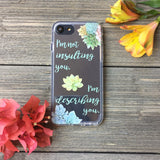 iPhone Succulent Insults Case
