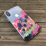 palm trees graphic phone case
