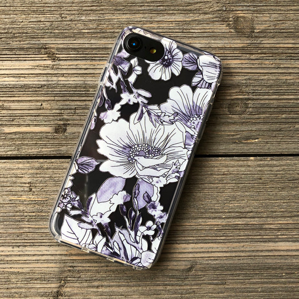 Inked Flowers iPhone Case