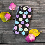 salty conversation hearts phone case
