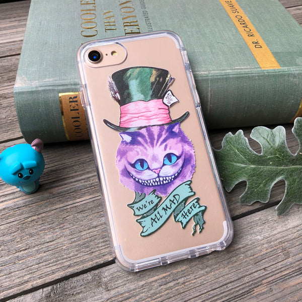 All Mad Here Cheshire Cat iPhone Case