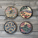 Japan Manhole Covers Inspired Cork Coaster Set of 4