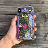iphone x glitter case beauty and the beast rose