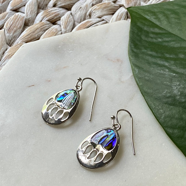 Bear Paw Abalone Earrings