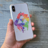 Power, Wisdom, and Courage Rainbow iPhone Case