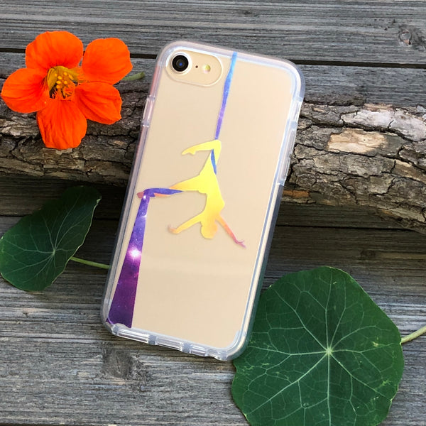 Aerial Silks Day and Night iPhone Case