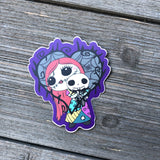 voodoo sally and jack doll vinyl sticker