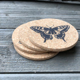 Insect Linocuts Cork Coaster Set of 4
