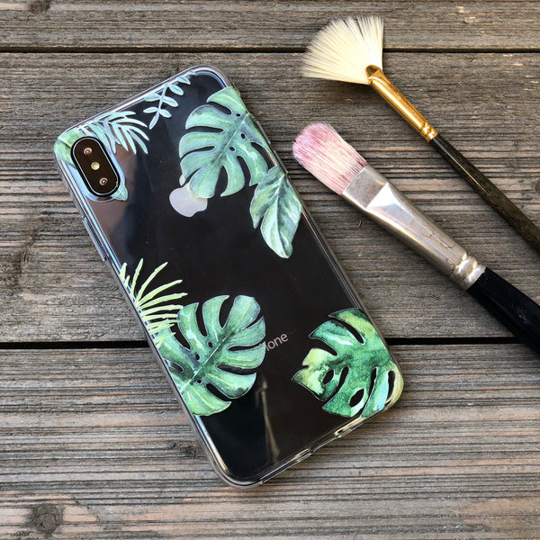 Monstera Foliage Leaves iPhone Case