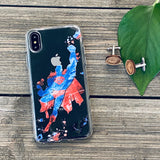 splatter paint superman silhouette phone case