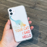 orange and teal ombre cat phone case