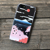 mount fuji in spring time phone case