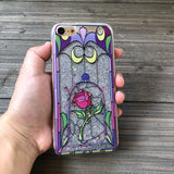 Enchanted Rose Silver Glitter iPhone Case