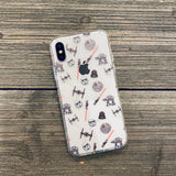 dark side pattern phone case