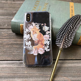 Sly Fox with Floral Wreath iPhone Case