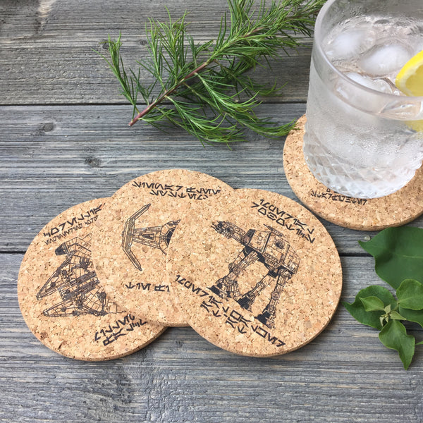Star Wars Themed Cork Coaster Set of 4