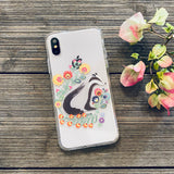 badger and flowers phone case