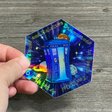 Police Box Holographic Vinyl Sticker