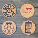 Dr Who Themed Cork Coaster Set of 4 (version 2)