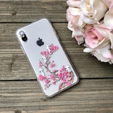 forest spirits with cherry blossoms phone case