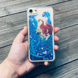 blue glitter iphone case mermaid princess red hair